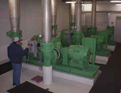 Large Blowers Provide Air for Mixing and Biological Oxidation