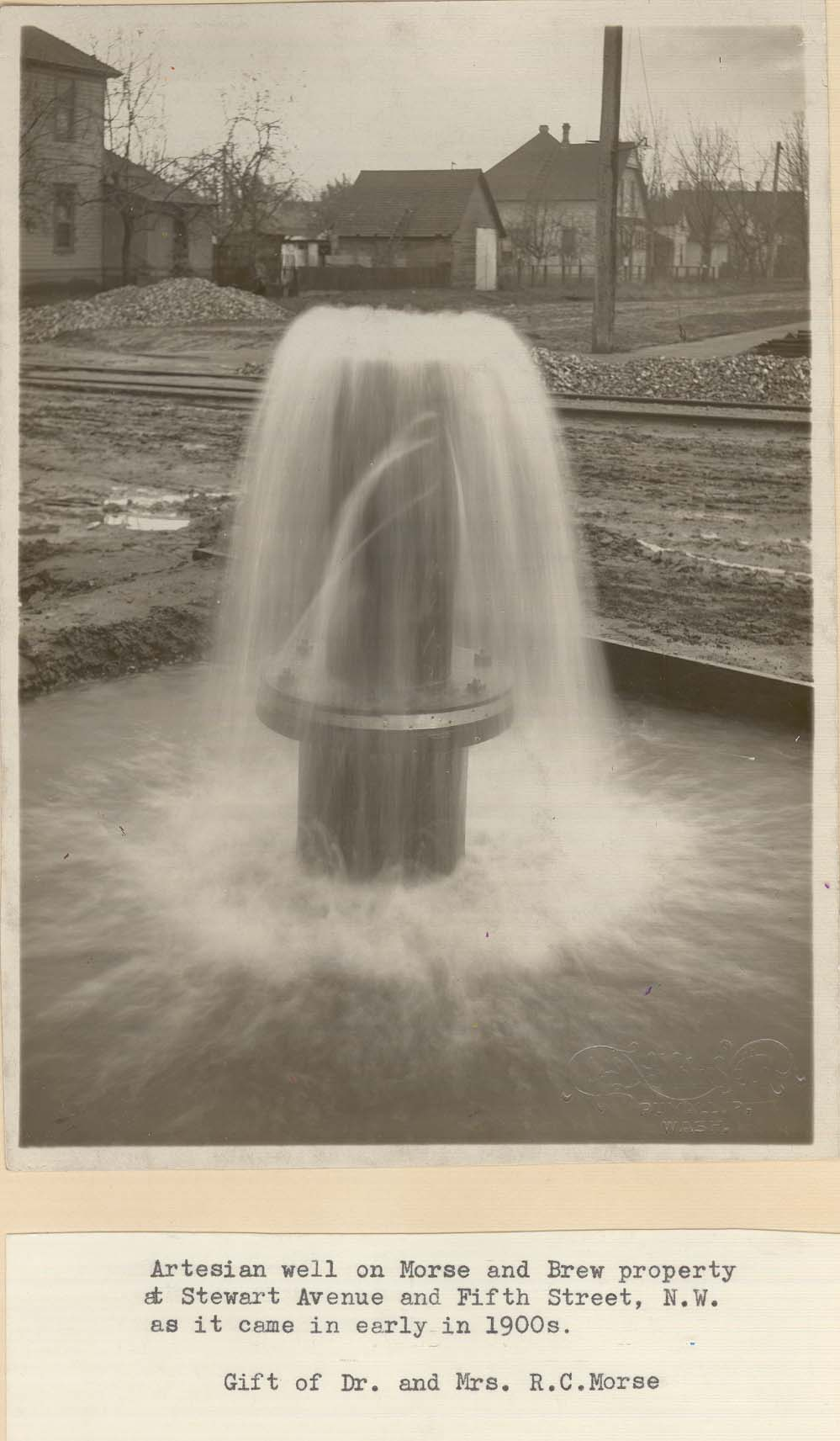 Artesian well historic pic Stewart and 5th early 1900s