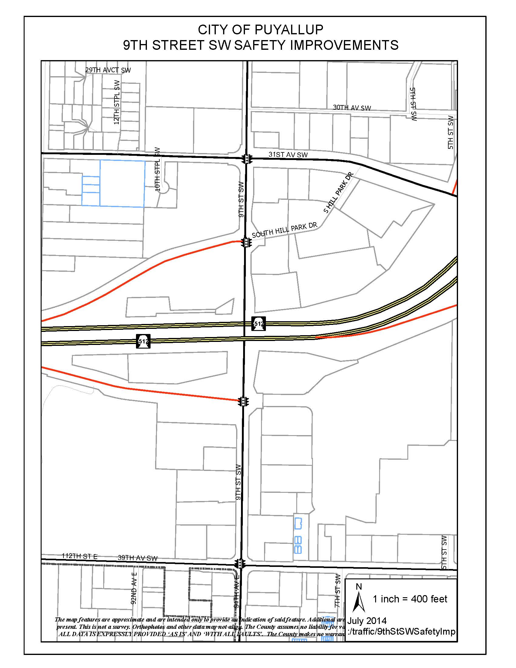 9th Street SW Safety Improvements_Vicinity Map