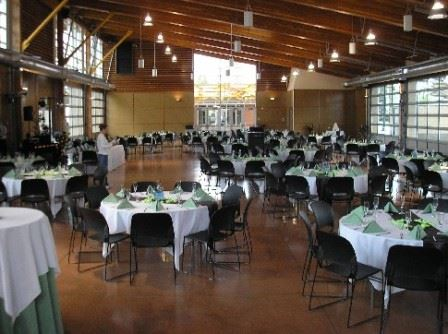 Banquet Tables with light green napkins