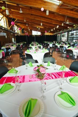 Pink and Green Theme Tables