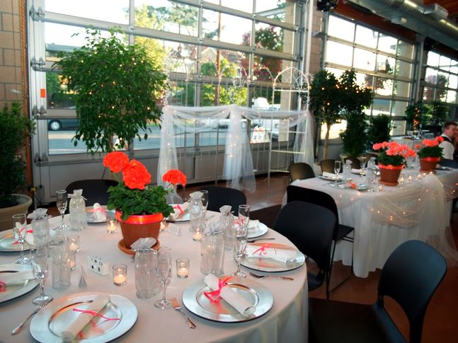 Red Potted Plants Centerpieces
